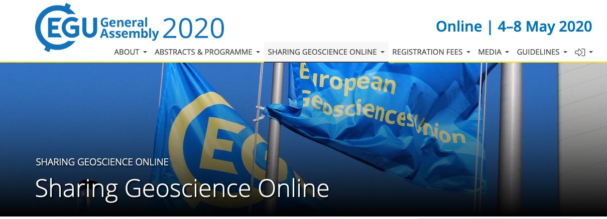 EGU20 online sessions