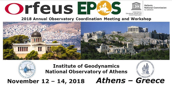 ORFEUS annual meeting 2018