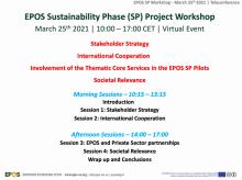 EPOS SP project workshop