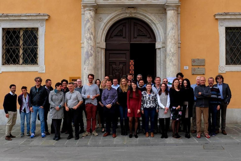 TCS-AH Consortium Meeting 8 May 2019 participants, Pisa, Italy. Photo courtesy of Grzegorz Lizurek.
