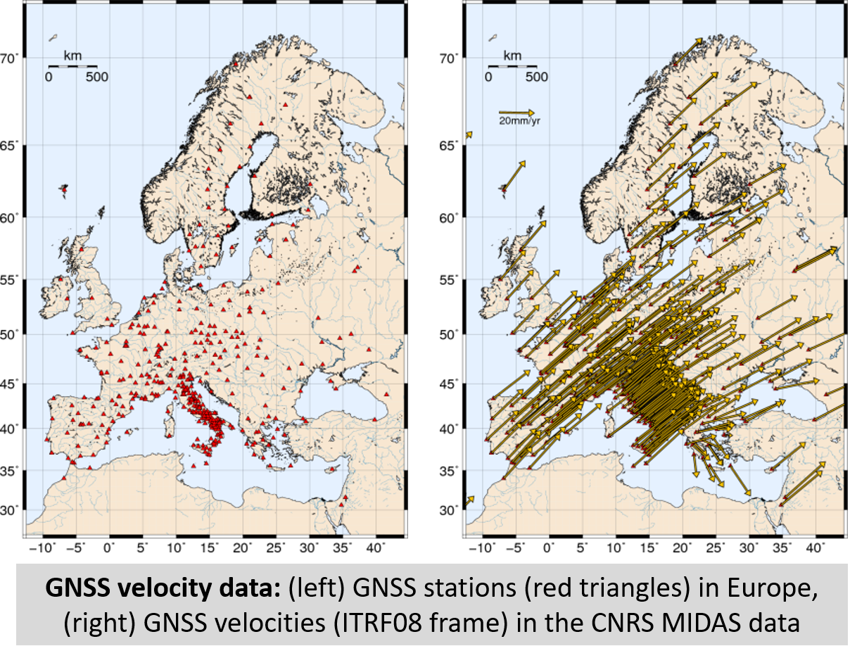 GNSS velocities