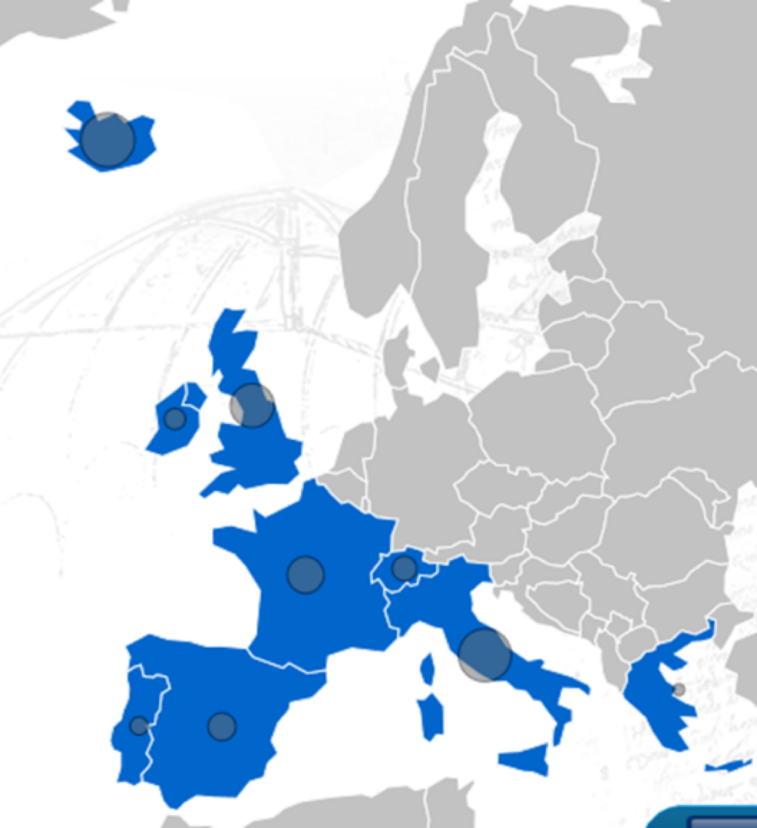 Countries participating in EUROVOLC